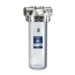 "10"" Three Partial Clear Water Filter Housing with Stainless Steel Head"