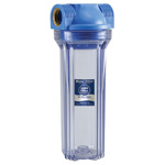 "10"" Clear Water Filter Housing, W/O Air Pressure Release Valve"