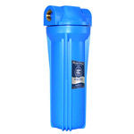"10"" Blue Water Filter Housing, W/O Pressure Release Valve"
