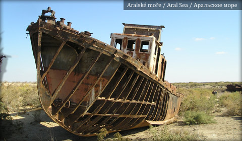 Aral Sea, Ship wreck